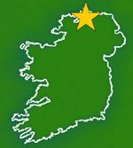 map of ballyliffen golf course ireland