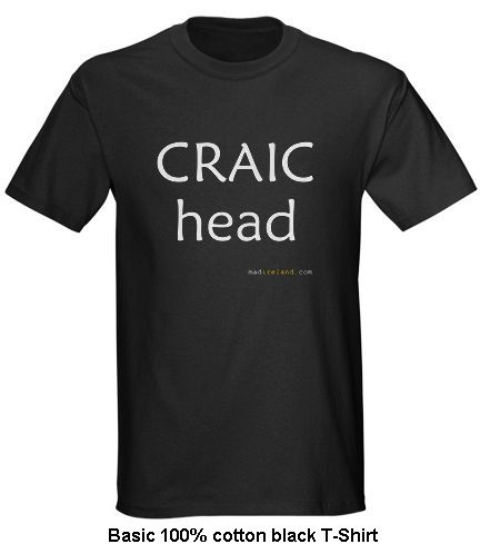 irish drinking craic head t shirt