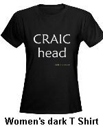 women's craic head funny irish t shirt