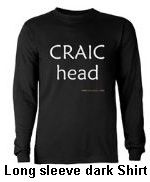 long sleeve black t shirt craic head