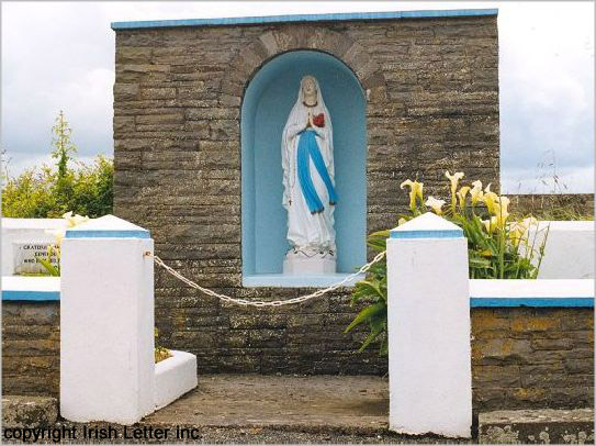 Irish religious roadside shrine