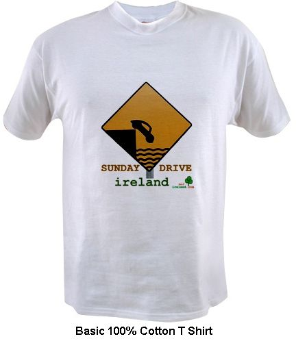 funny driving in Ireland t shirt