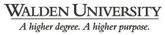 online graduate degree from walden university